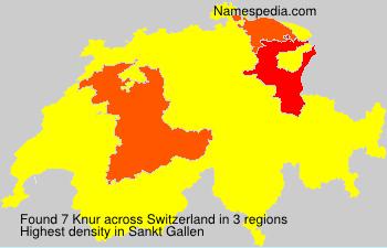 Surname Knur in Switzerland
