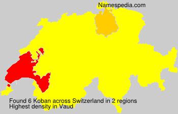 Surname Koban in Switzerland