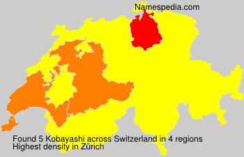 Surname Kobayashi in Switzerland