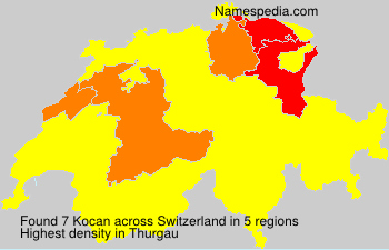 Surname Kocan in Switzerland