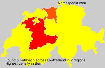 Surname Kohlbach in Switzerland