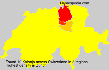 Surname Kolonja in Switzerland