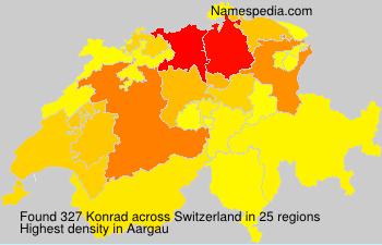 Surname Konrad in Switzerland