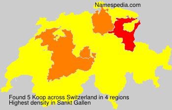 Surname Koop in Switzerland