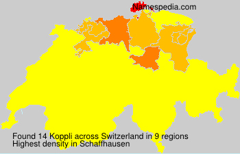 Surname Koppli in Switzerland