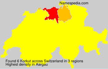 Surname Korkut in Switzerland