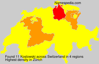 Surname Koslowski in Switzerland