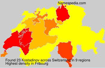 Familiennamen Kostadinov - Switzerland