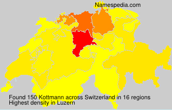 Surname Kottmann in Switzerland