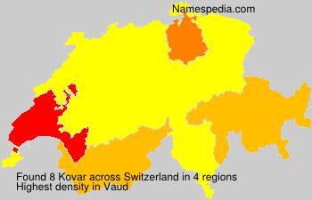 Surname Kovar in Switzerland