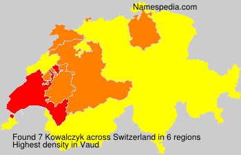 Surname Kowalczyk in Switzerland
