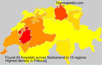 Surname Kowalski in Switzerland