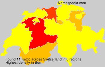 Surname Kozic in Switzerland