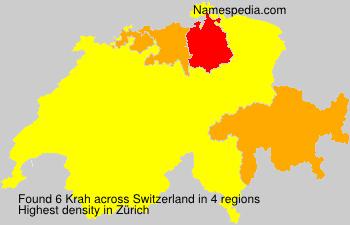 Surname Krah in Switzerland