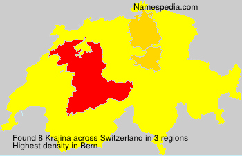 Surname Krajina in Switzerland
