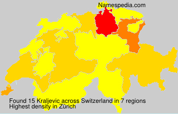 Surname Kraljevic in Switzerland