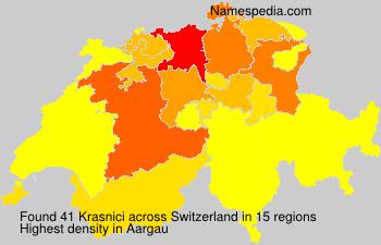Surname Krasnici in Switzerland