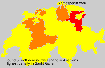 Surname Kratt in Switzerland
