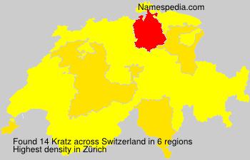 Familiennamen Kratz - Switzerland