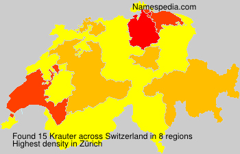 Surname Krauter in Switzerland