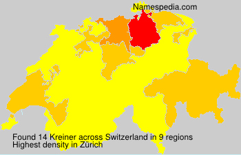 Surname Kreiner in Switzerland