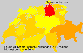 Surname Kremer in Switzerland