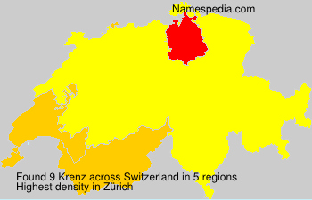 Surname Krenz in Switzerland