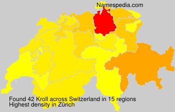 Familiennamen Kroll - Switzerland