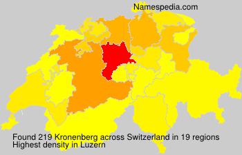 Surname Kronenberg in Switzerland