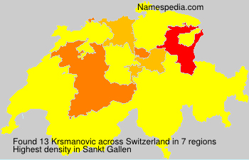 Surname Krsmanovic in Switzerland
