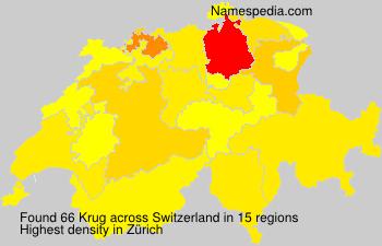 Surname Krug in Switzerland