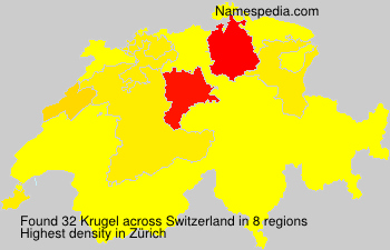 Surname Krugel in Switzerland