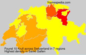 Surname Krull in Switzerland