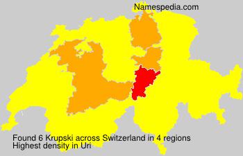 Familiennamen Krupski - Switzerland