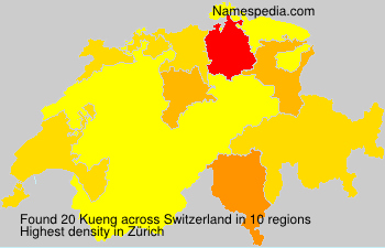 Surname Kueng in Switzerland