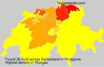 Surname Kuhl in Switzerland