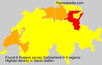 Surname Kuipers in Switzerland