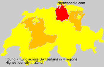 Surname Kulic in Switzerland