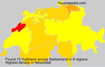 Surname Kullmann in Switzerland