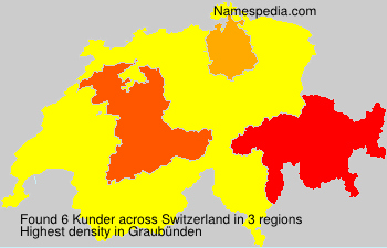 Surname Kunder in Switzerland