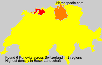 Surname Kunovits in Switzerland