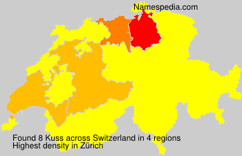 Surname Kuss in Switzerland
