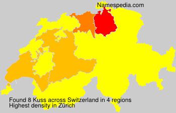 Surname Kuss in Switzerland