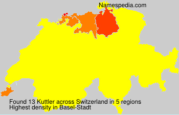 Surname Kuttler in Switzerland