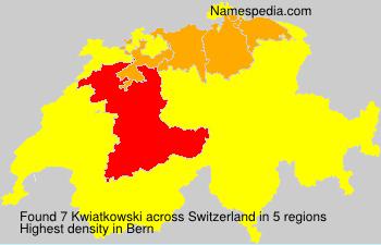 Surname Kwiatkowski in Switzerland
