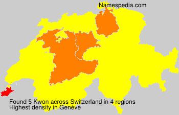 Surname Kwon in Switzerland