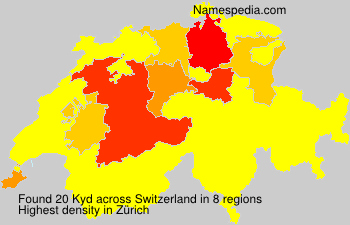 Surname Kyd in Switzerland