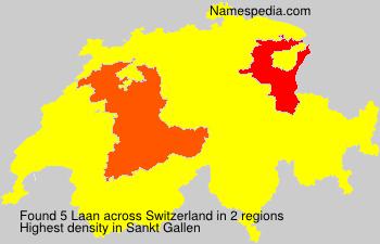 Surname Laan in Switzerland