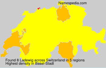 Surname Ladewig in Switzerland