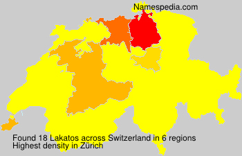 Surname Lakatos in Switzerland